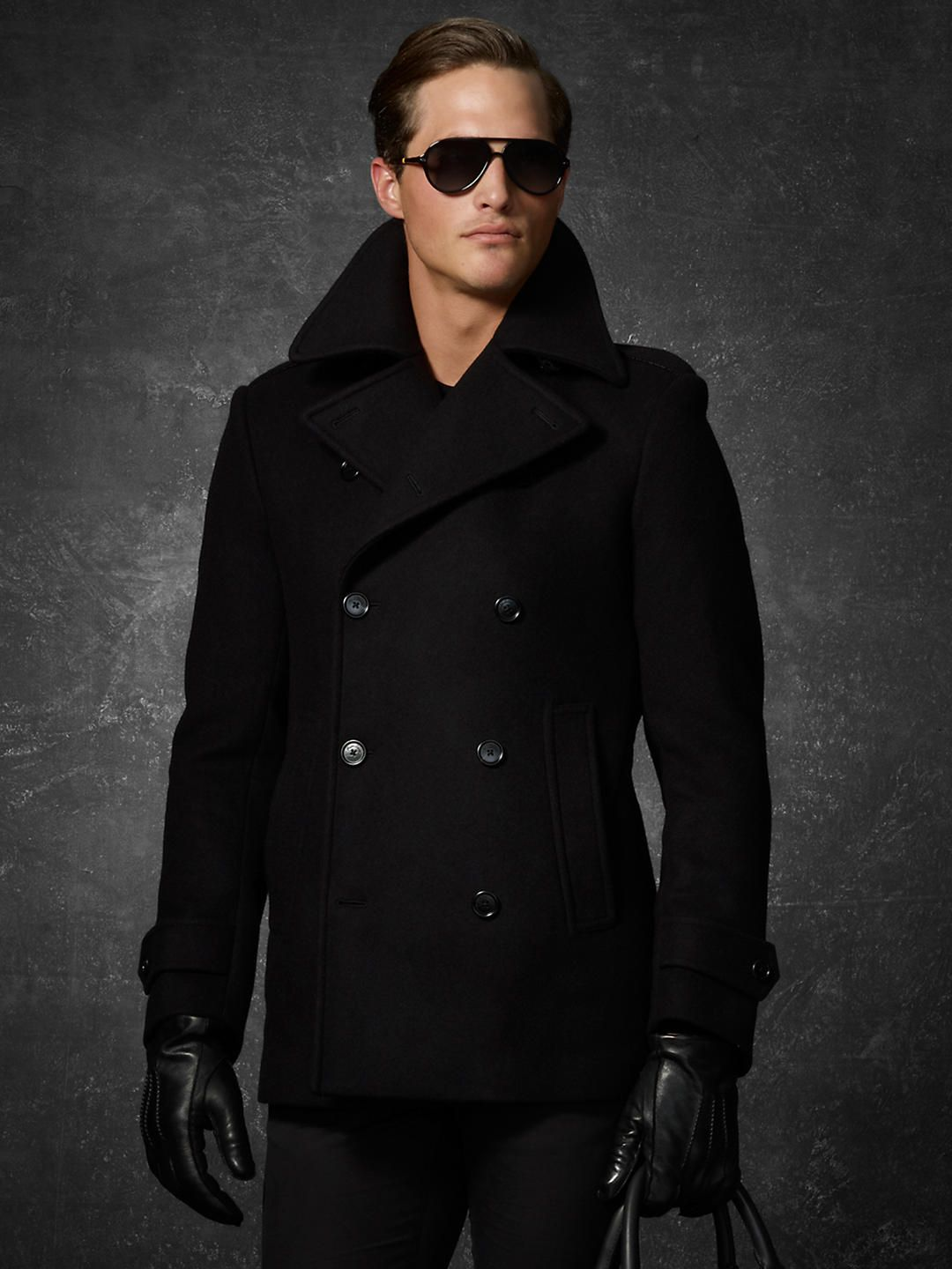 competitive price baby closer at Luxe Melton Pea Coat - Outerwear Purple Label - RalphLauren ...