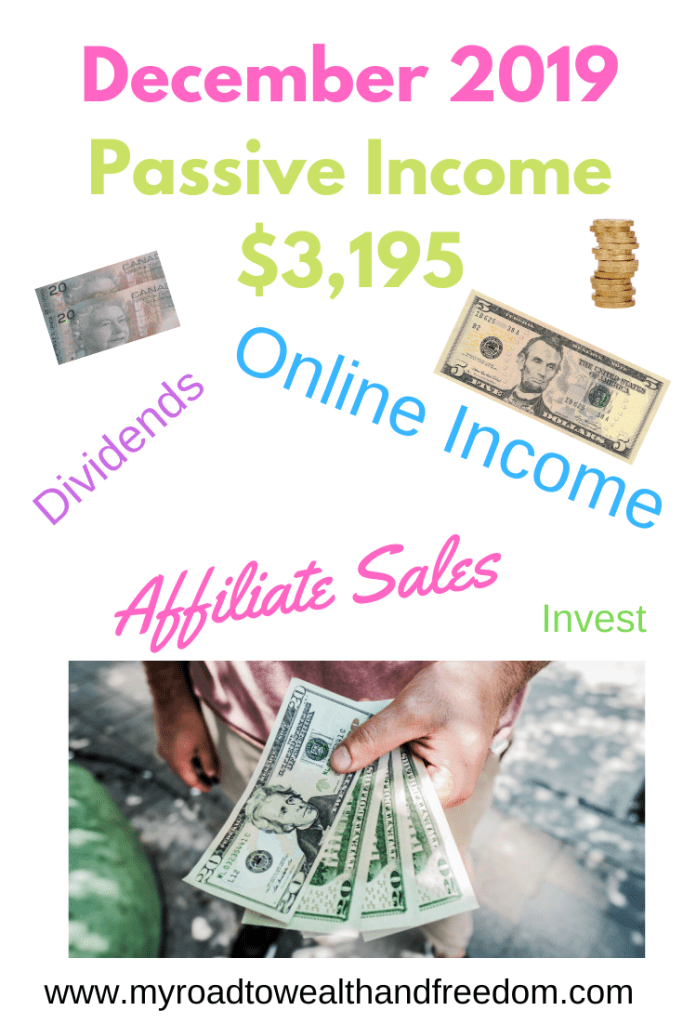 December 2019 Passive Income 3 195 My Road To Wealth And Freedom In 2020 Passive Income Personal Finance Bloggers Investing