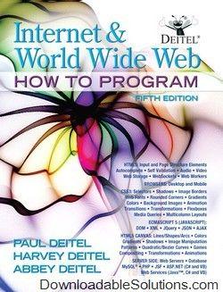 solution manual for internet and world wide web how to program 5th rh pinterest co uk Deitel and Deitel Solution Paul Deitel
