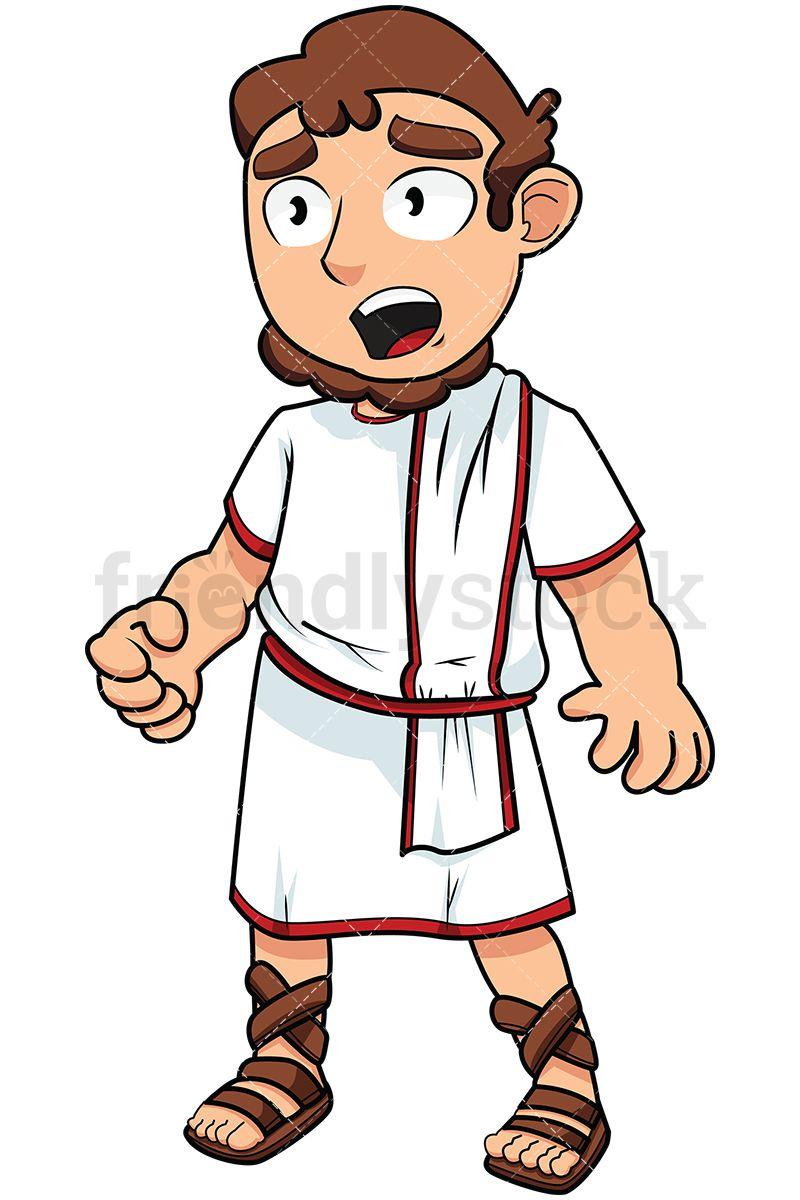Annoyed Roman Senator Vector Cartoon Clipart Friendlystock Cartoon Clip Art Cartoon Vector Illustration