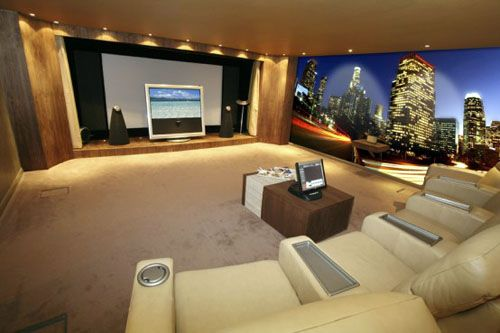 Modern Digital Photography Wallpapers Ideas   City Skyline In Your Personal Home  Movie Theater