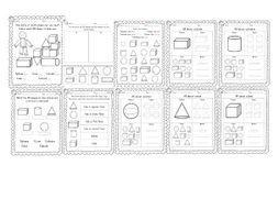 Year 1 3d Shapes 10 Worksheets Shapes Worksheets 3d Shapes