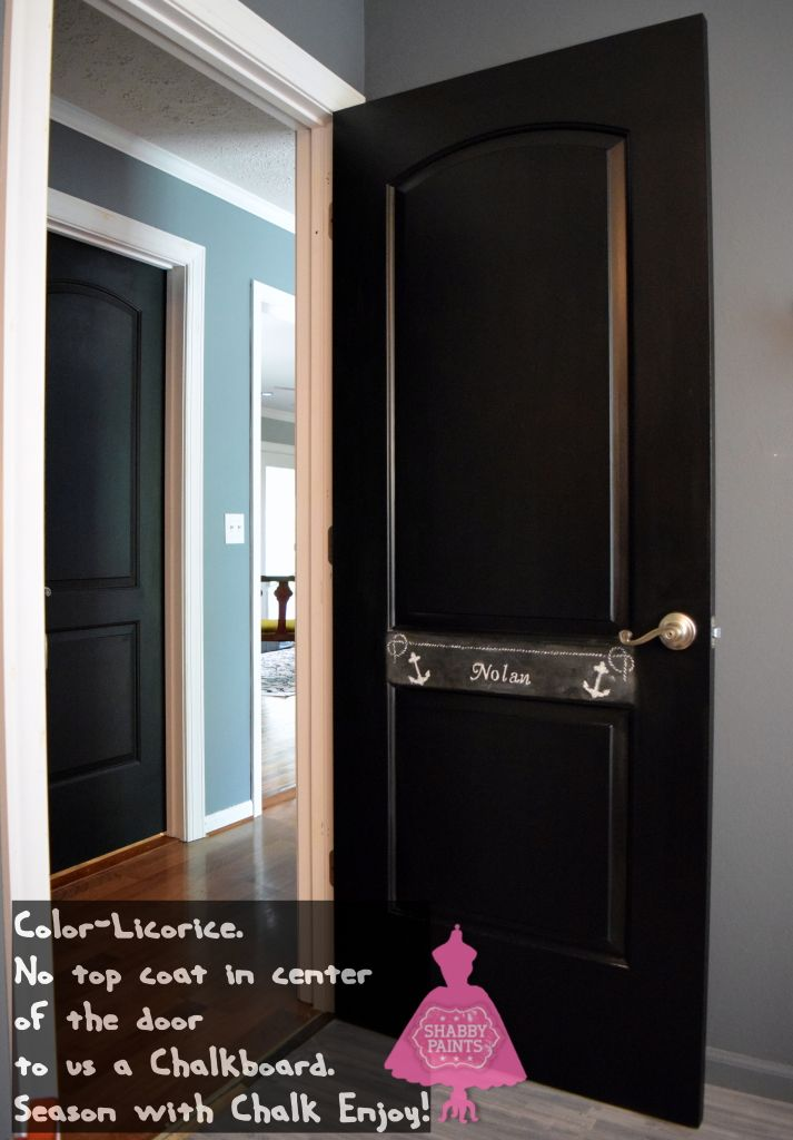 Merveilleux Black Interior Doors Chalk Acrylic Paint. Center Used As A Chalkboard.  #chalkboard #blackdoor #shabbypaints
