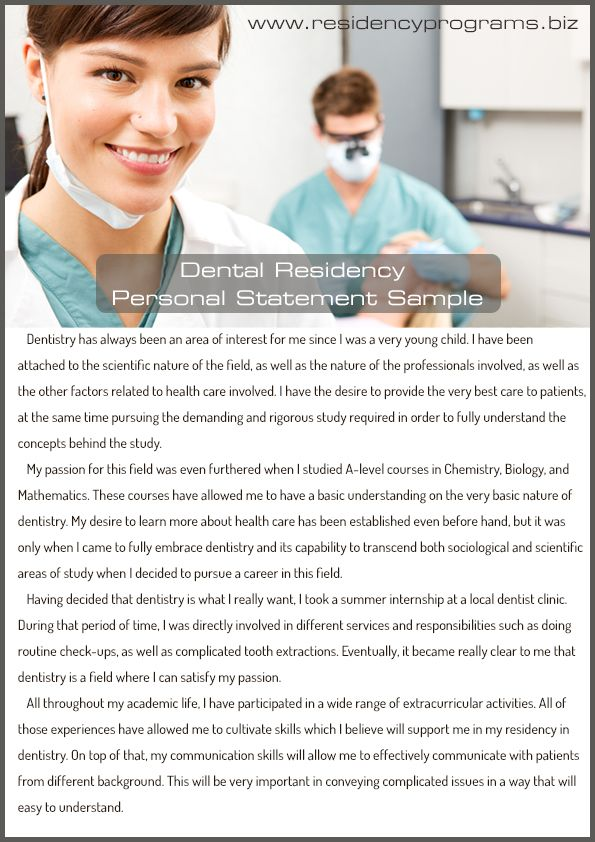 DentalResidencyPersonalStatementWritingOnline  Residency