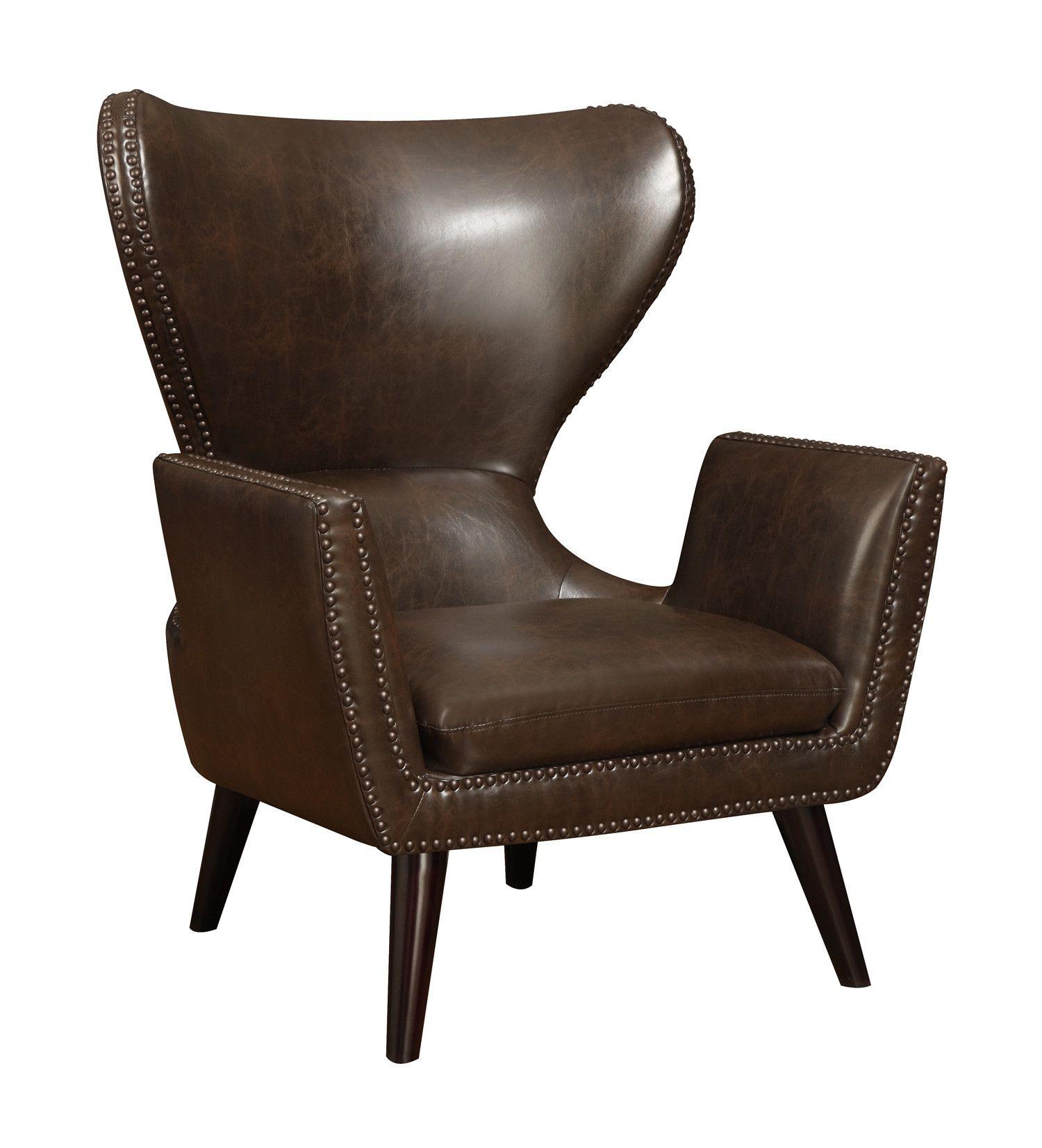 Wildon Home ® Arm Chair Wayfair Leather wingback chair