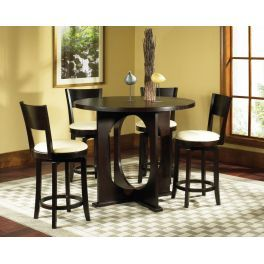5pc Rossi Counter Height Dining Table Bar Height Dining Table Counter Table Set Round Dining Table Modern