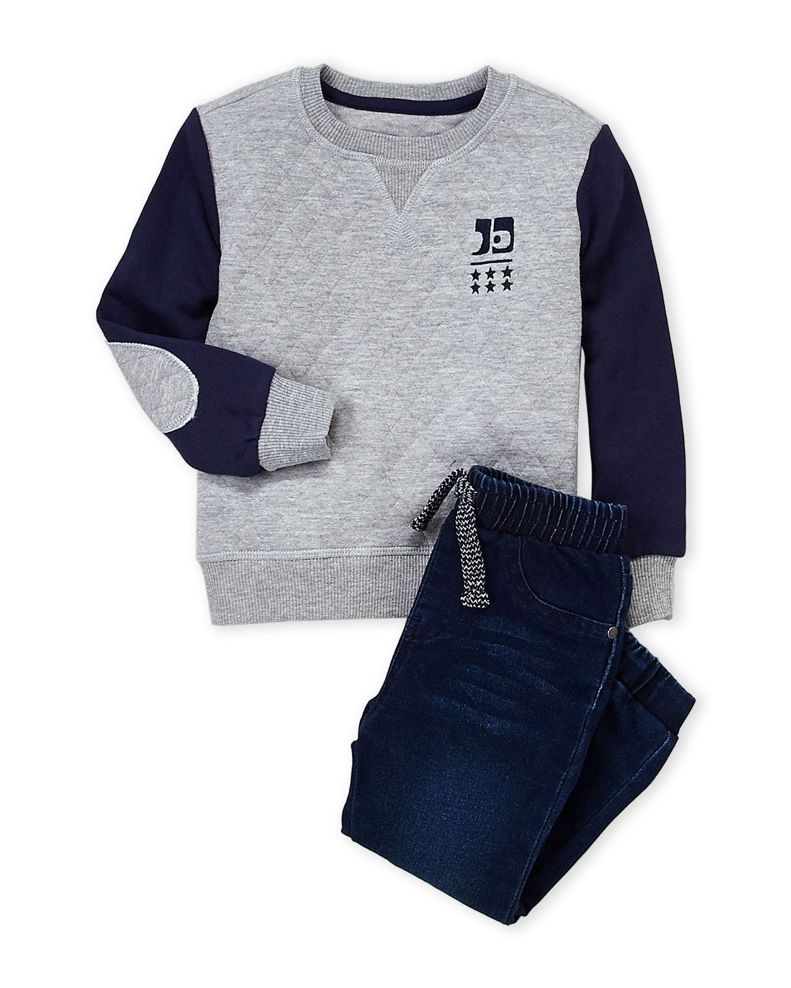 dfac6edbe Joe's Jeans (Toddler Boys) Two-Piece Quilted Pullover & Denim Joggers Set