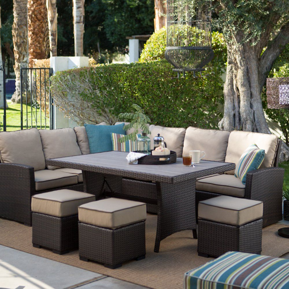 Beautiful Buy Belham Living Monticello All Weather Wicker Sofa Sectional Patio Dining  Set: Sofa: