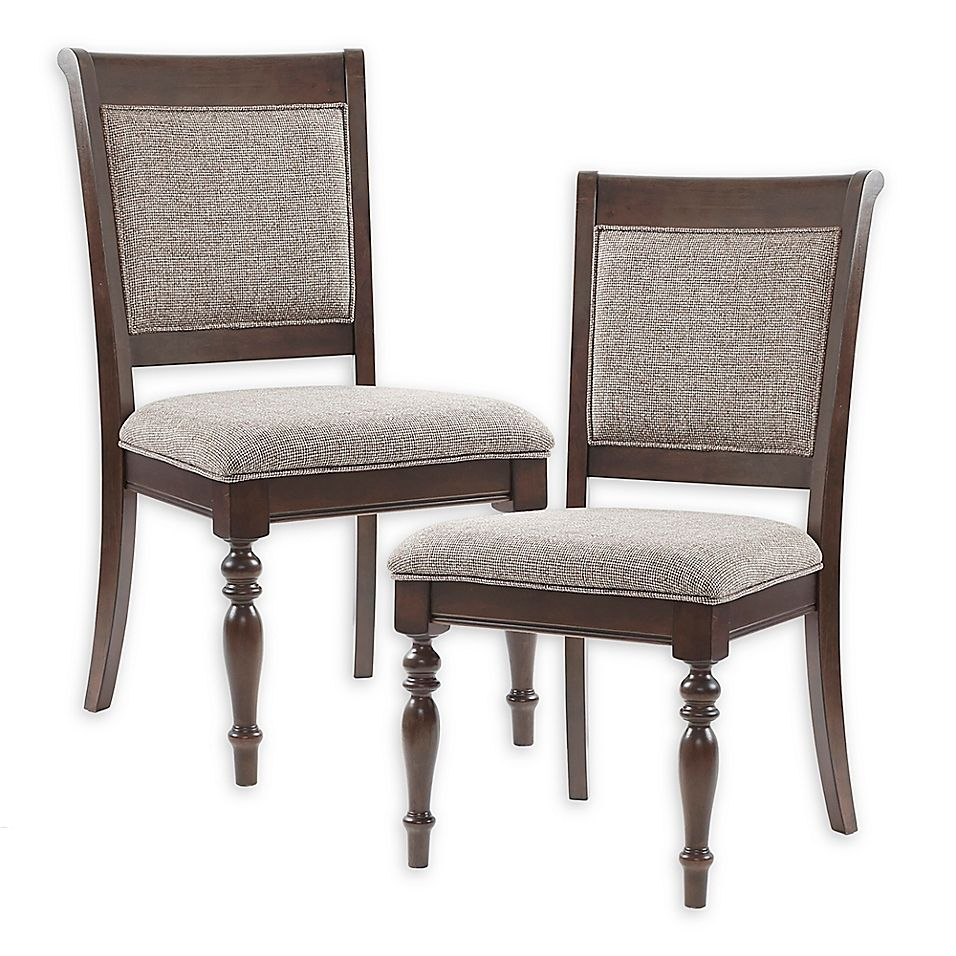 Madison Park Signature Beckett Dining Side Chairs In Grey Morocco
