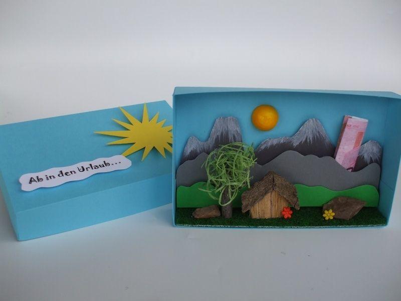 Geldgeschenkbox Urlaub Berge / Hochzeitsreise  Geldgeschenke ...