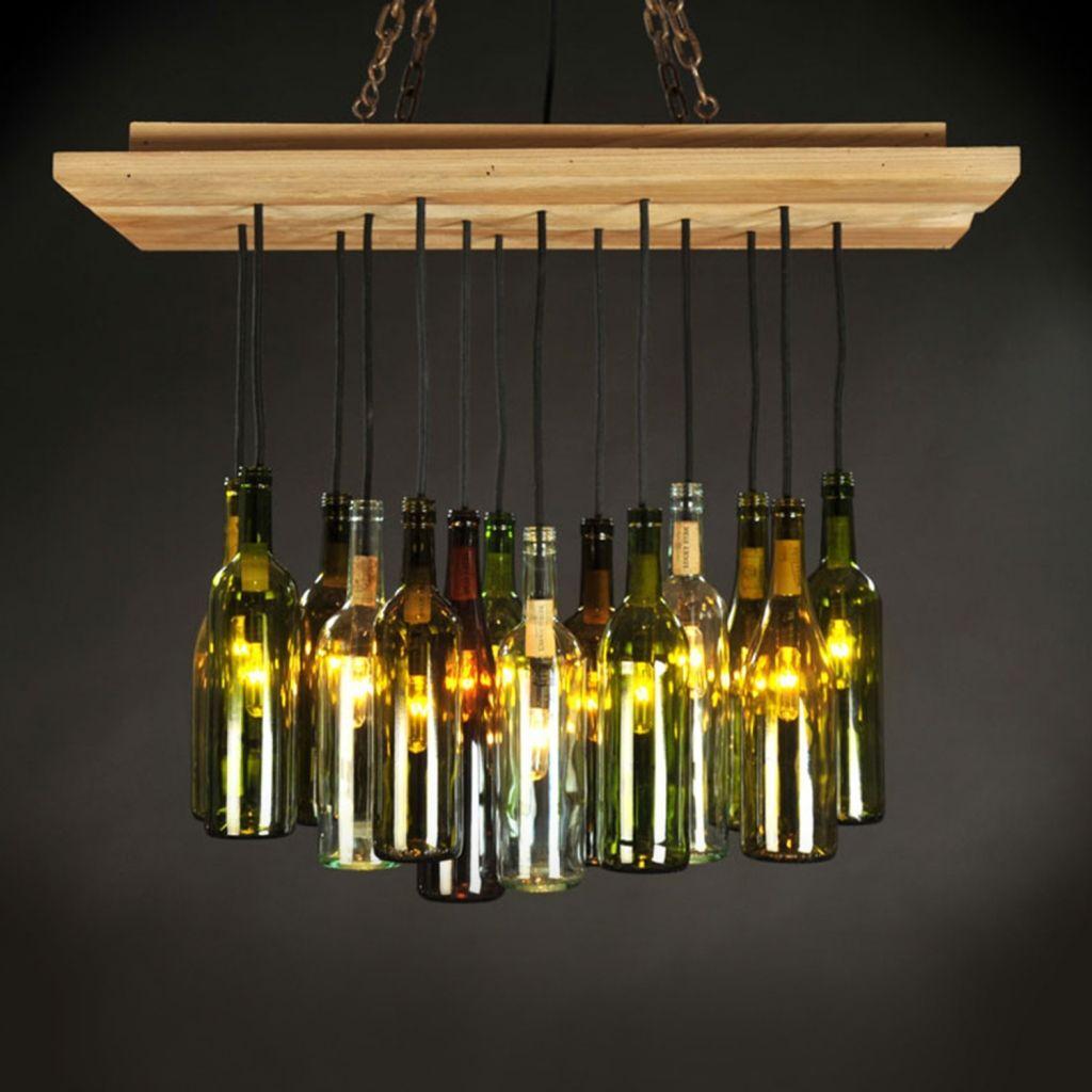Apartment Home Decor Flasche Kronleuchter Flaschenleuchten Weinkeller Design