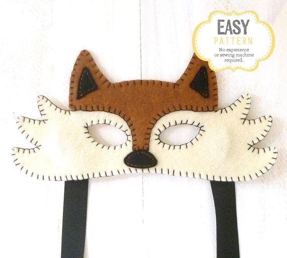 Felt Fox Mask Pattern, Fox Mask Sewing Pattern, Woodland Mask ...