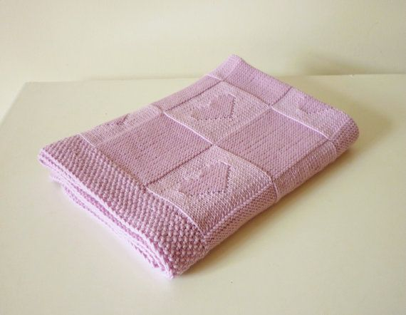 Hand Knitted Baby Blanket Baby Blanket By Petitmoutonfrancais