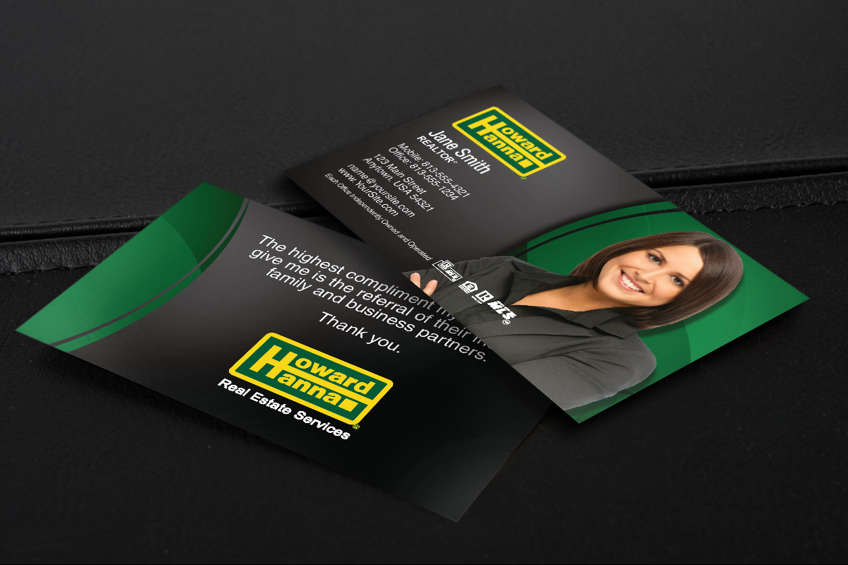 Howard Hanna Realtors Let S Find You A New Business Card Realtor Howardhanna High Quality Business Cards Real Estate Business Cards Business Cards Online