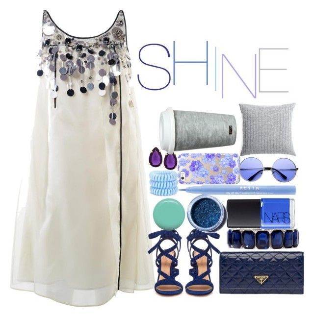 """shine"" by giuliamerluzzi ❤ liked on Polyvore featuring Prada, Gianvito Rossi, Monet, NARS Cosmetics, Lime Crime, Stila, Jin Soon, Invisibobble, Casetify and T Tahari"