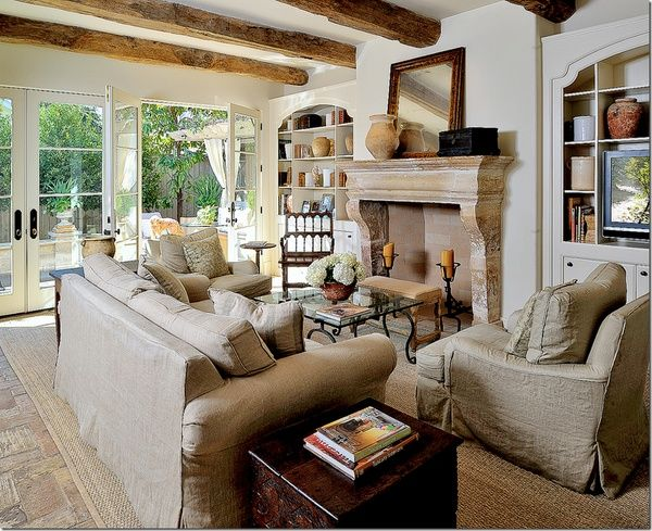 Rustic French Country Decorating Living SpacesCasual