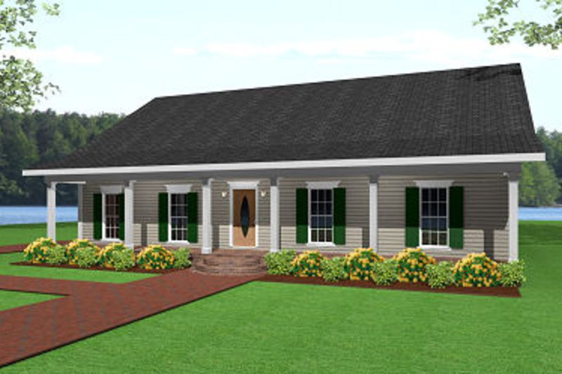 Ranch Style House Plan - 3 Beds 2.00 Baths 1500 Sq/Ft Plan #44-134 ...