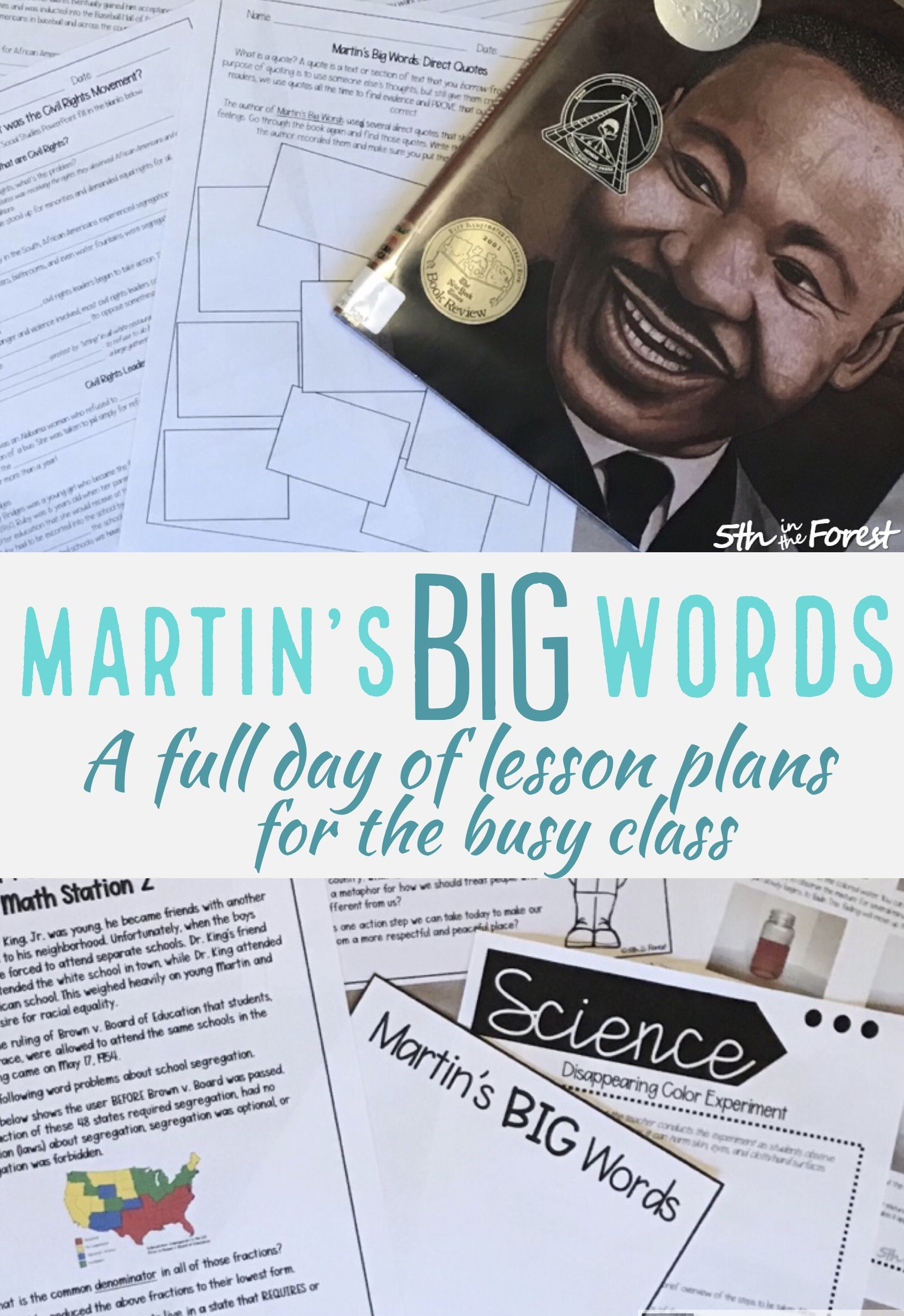 Martins Big Words Full Day Of Lesson Plans With Images Martins Big Words Lesson Lesson Plans Big Words
