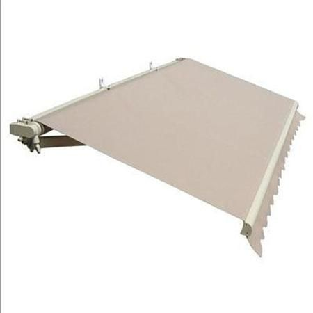 Aleko 13 X 10 Retractable Patio Awning Outdoor Deck Shade Beige Color Deck Shade Patio Awning Awning Canopy
