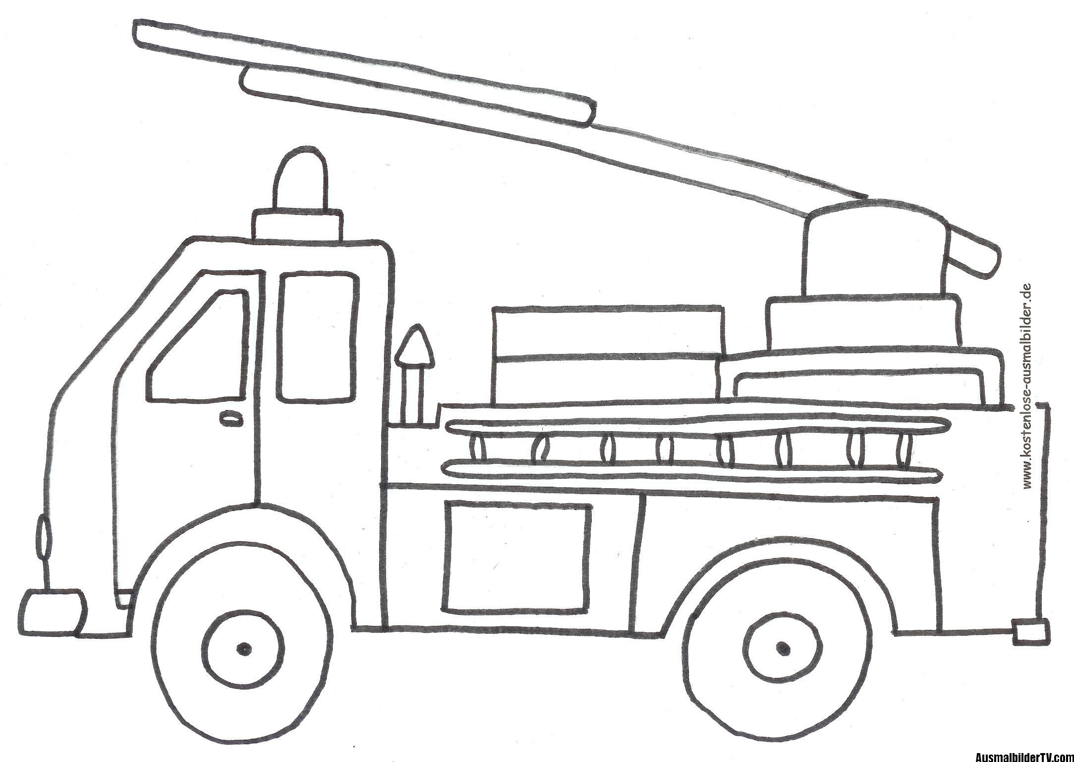 ausmalen feuerwehr  Feuerwehrauto, Ausmalbilder feuerwehr