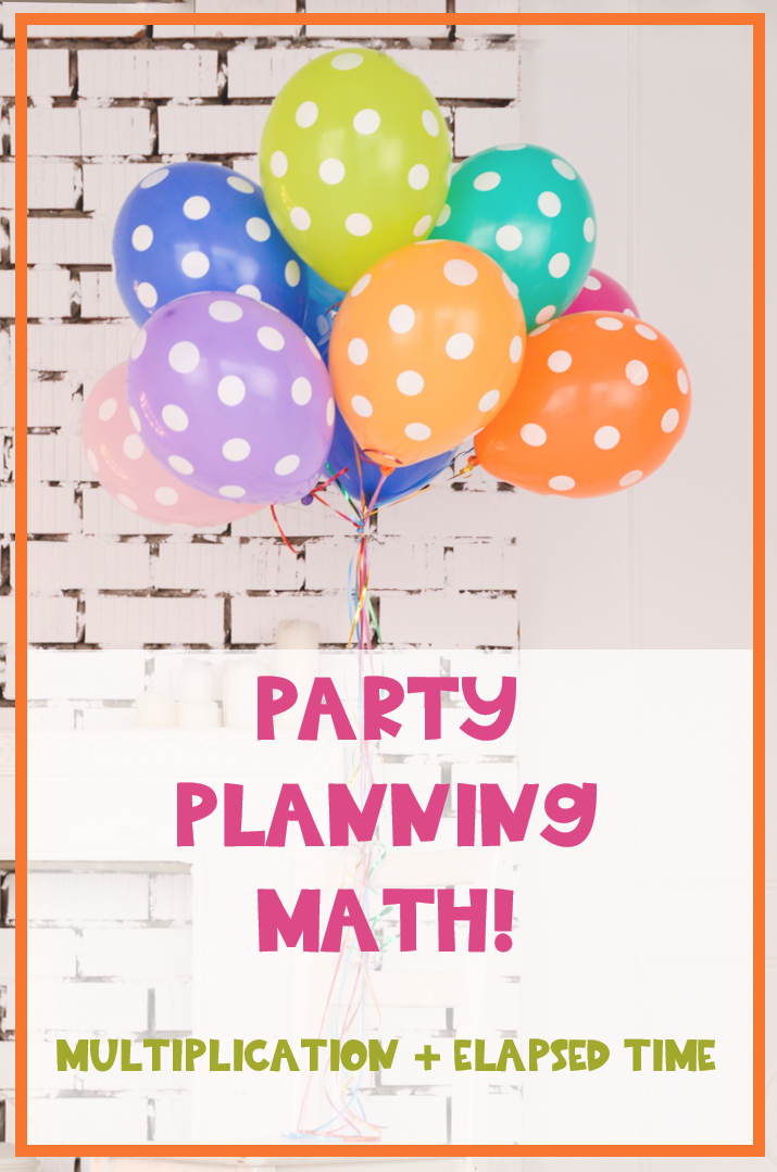 Dream Party Math Elapsed Time Budgeting 2 Digit By 1 Digit Multiplication With Images Real Life Math Math Projects Elapsed Time