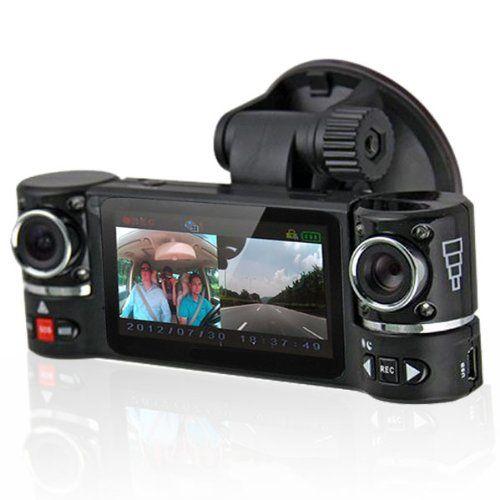 "2.7/"" TFT LCD Dual Camera Rotated Lens Car HD DVR Vehicle Video Recorder Dash Cam"