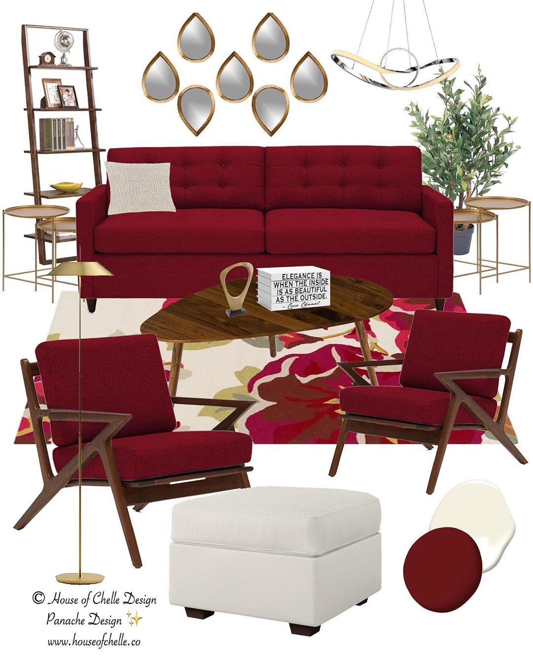 Design Your Room Virtual: Mid Century Interior Design With A Modern Twist Need A Bit