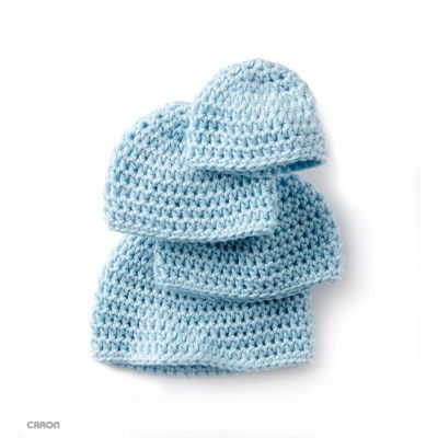 b821c948667 Caron Teeny Weeny Crochet Cap Pattern (sized for 3-4 lbs   5-6 lbs   7-9  lbs   10-12 lbs) - A Teeny Weeny Cap to crochet for little ones.