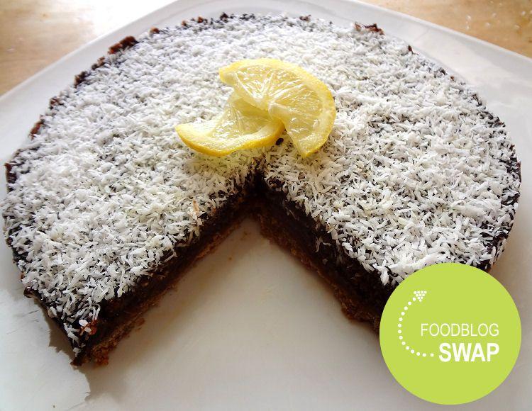 suikervrije lemoncoconut taart