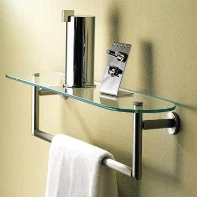 Sine Glass Shelf Towel Bar By Motiv Con Imagenes Decoracion