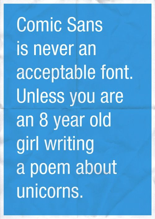 Image result for comic sans unicorns
