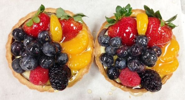 Freshly made Fruit Tarts from the Butcher Boy Bakery.