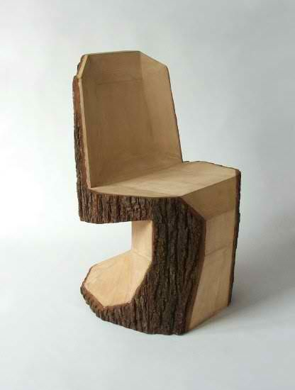 From Simple Tree Logs To Contemporary Dining Chairs Modern