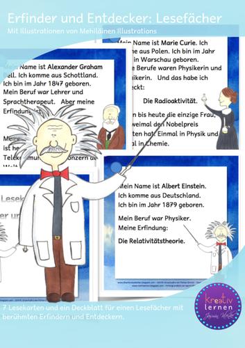 Erfinder Und Entdecker Lesefacher Unterrichtsmaterial Im Fach Sachunterricht Erfinder Unterrichtsmaterial Sprachsensibler Unterricht