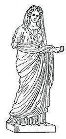 También podían llevar;   ESTOLA, Que era llevada de manera romana. PALLA, un manto colocado encima de la estola.EL COLOBIUM, una pieza larga de tejido caída por detrás de la cabeza o doblada por delante de forma que cubriera el brazo.