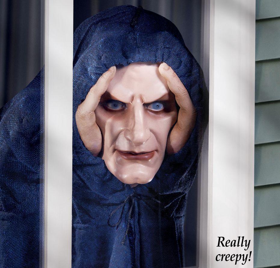 Peeping Tom Evil Clown Zombie Prop Horror Stalker Window Prank ...