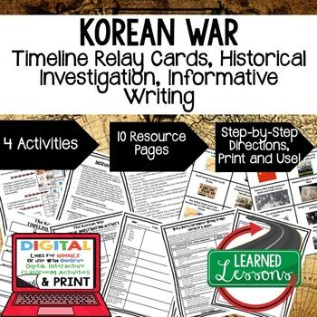 Photo of Korean War Timeline, Investigation, & Writing, Distance Learning & Print