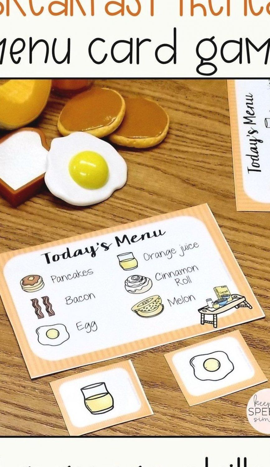 Teach functional breakfast themed vocabulary to your preschool and elementary…