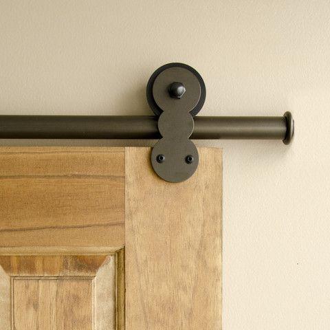 Bronze - Bronze Barnum Single - Barn Door Hardware Kit