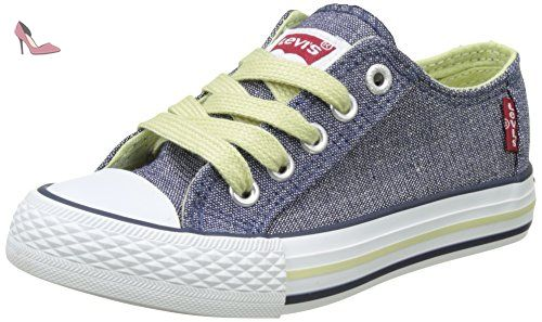 Levi's Kids Trucker Hi, Baskets Hautes Garçon, Rouge (Red), 35 EU