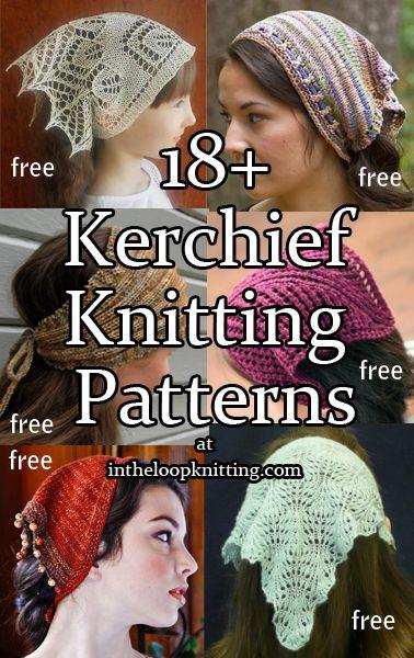 Kerchief Knitting Patterns Knitting Patterns Free