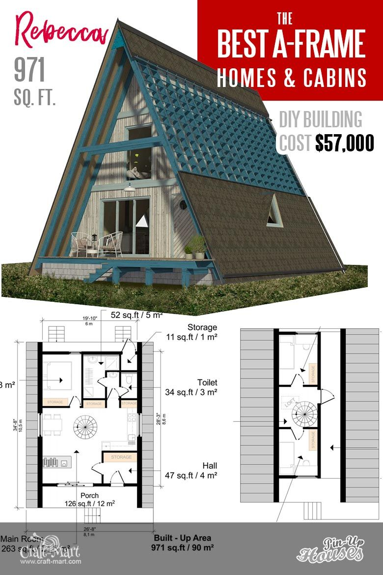 Cool A Frame Tiny House Plans Plus Tiny Cabins And Sheds Craft Mart A Frame House Plans A Frame House Affordable House Plans
