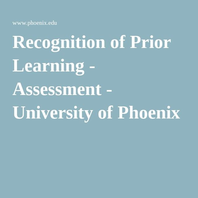 Recognition of Prior Learning - Assessment - University of