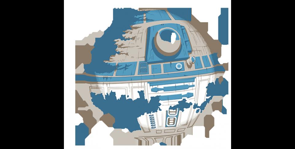 R2 Deathstar Teefury Star Wars R2d2 Death Star