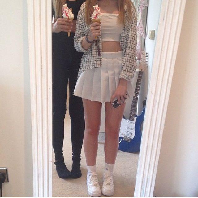 Pinterest Sascharaquel Fashion Kpop Outfits Pleated Tennis Skirt
