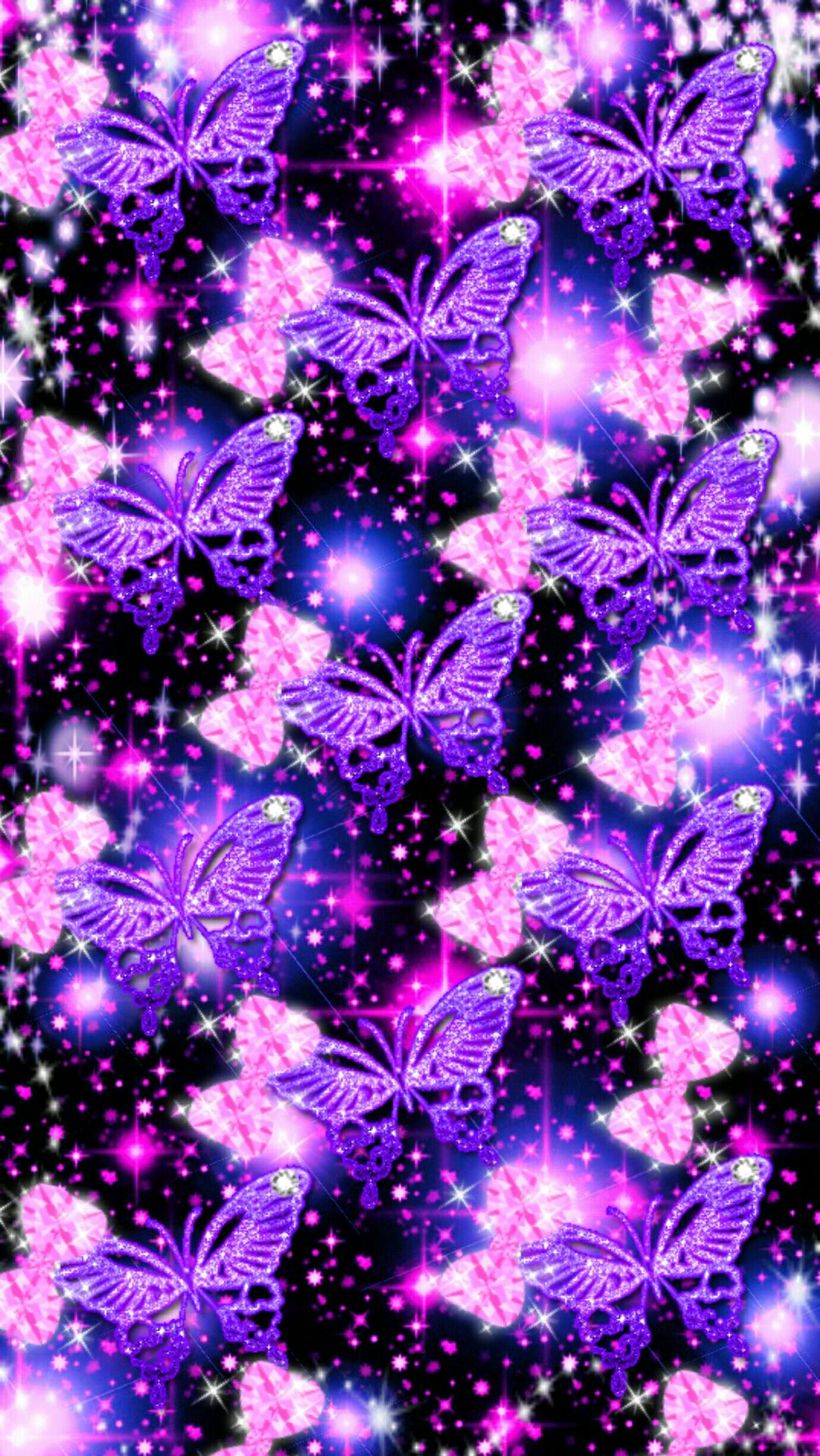 Butterflies n bows Cute wallpapers, Butterfly art