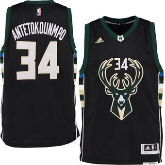 hot sale online 66565 e0ce2 adidas Giannis Antetokounmpo Milwaukee Bucks Black Swingman climacool Jersey   bucks  milwaukee  nba