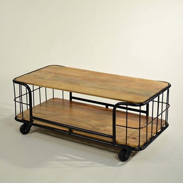 fabrik couchtisch vintage bakers rack table vintage industrial design furniture furniture. Black Bedroom Furniture Sets. Home Design Ideas