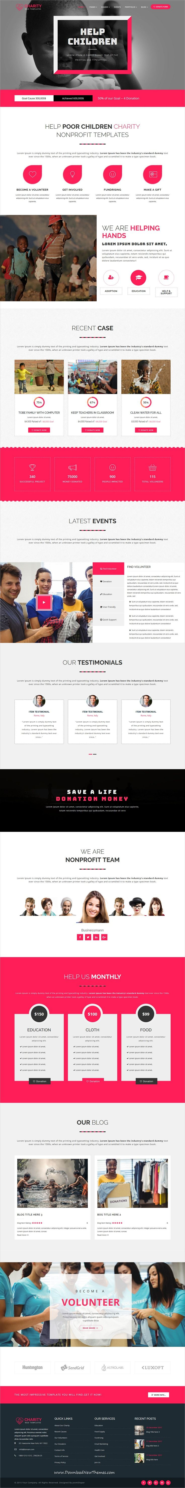 charity nonprofit multipage joomla template template and joomla themes