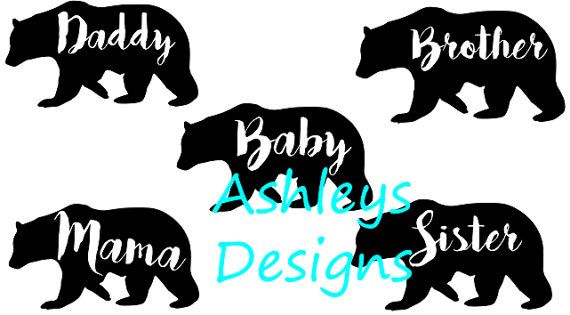 Download Baby Mama Daddy Brother Sister Bear SVG File by ...
